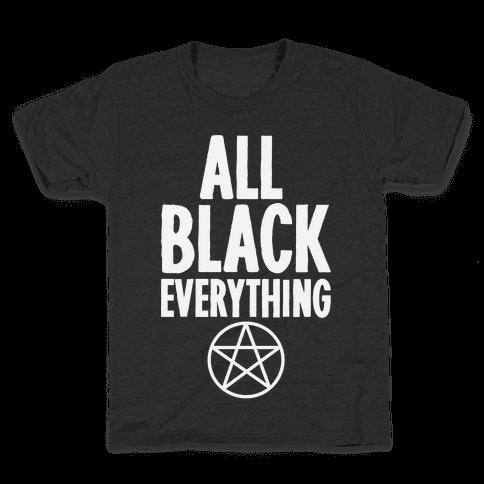 All Black Everything Kids T-Shirt