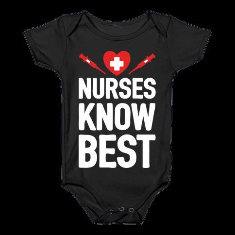 Nurses Know Best Baby Onesy