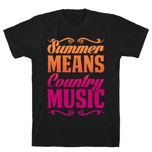 Summer Means Country Music Mens T-Shirt