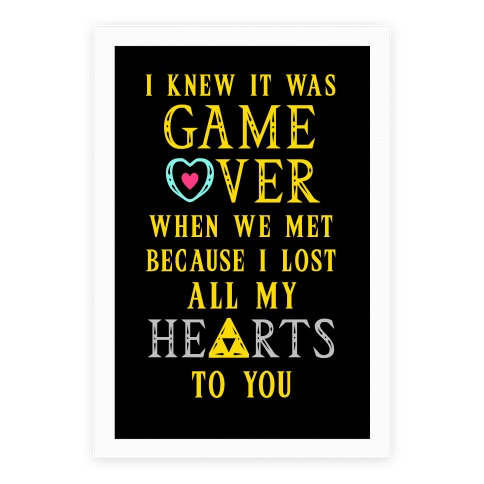 Game Over I Lost All My Hearts To You Poster
