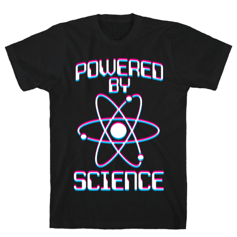 Powered By Science Mens T-Shirt