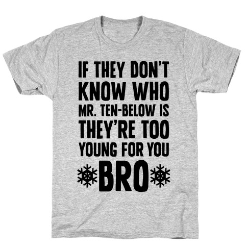 If They Don't Know Who Mr. Ten-Below Is T-Shirt