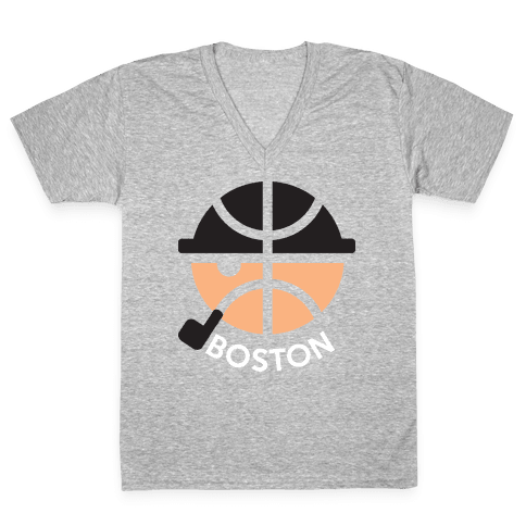 Boston Ball V-Neck Tee Shirt