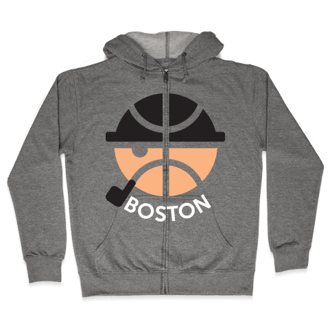 Boston Ball Zip Hoodie