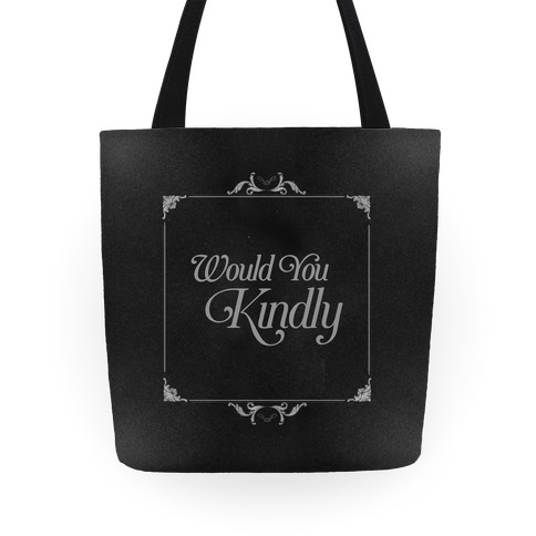 Would You Kindly Silent Movie Frame Tote