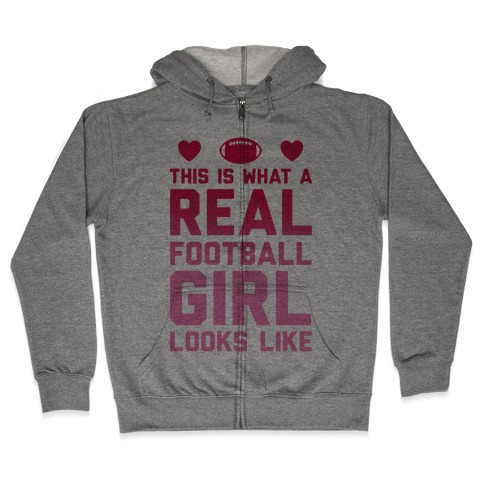 This Is What A Real Football Girl Looks Like Hoodie | LookHUMAN