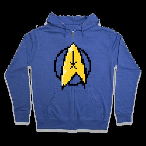 Star Trek 8-Bit Zip Hoodie