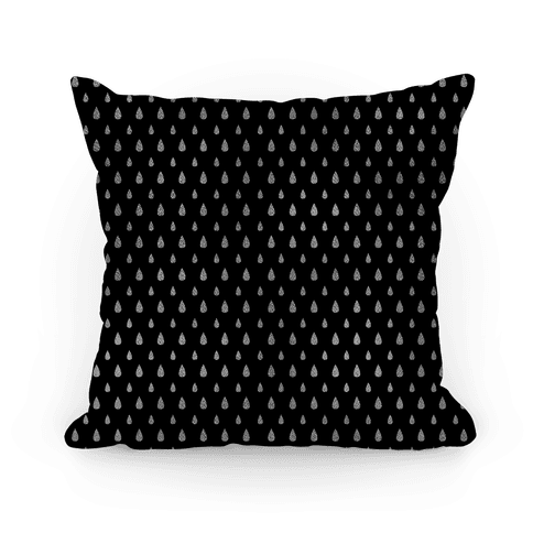 White Tear Drop Pattern Pillow