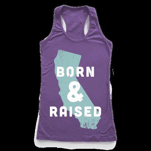 California Born & Raised Racerback Tank Top