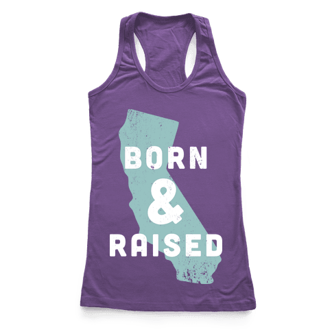 California Born & Raised Racerback Tank Top