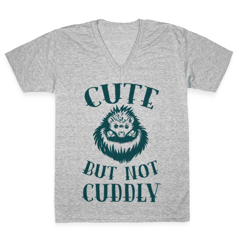 Cute But Not Cuddly V-Neck Tee Shirt