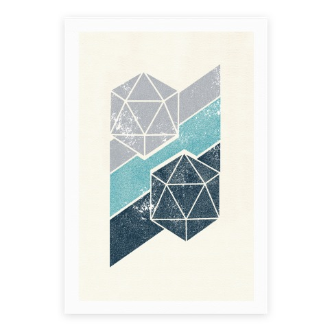 Winter Icosahedron Poster