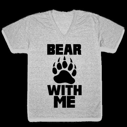 Bear With Me V-Neck Tee Shirt