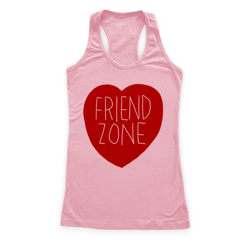 Friendzone (Heart) Racerback Tank   LookHUMAN