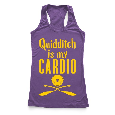 Quidditch Is My Cardio Racerback Tank Top
