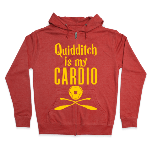 Quidditch Is My Cardio Zip Hoodie