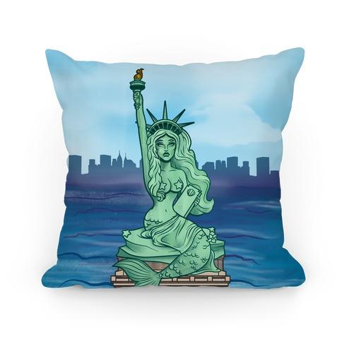 Statue of Liberty Mermaid Pillow