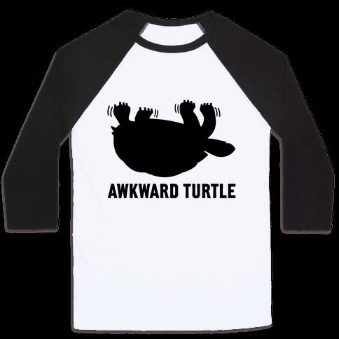 Awkward Turtle (Tank) Baseball Tee