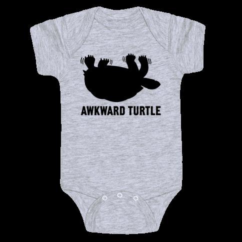 Awkward Turtle (Tank) Baby Onesy