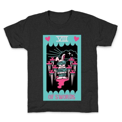 Creepy Cute Tarots: Eight of Swords Kids T-Shirt