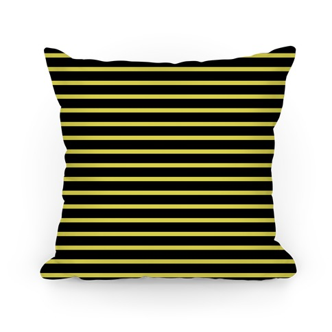 Hufflepuff House Stripe Pattern Pillow