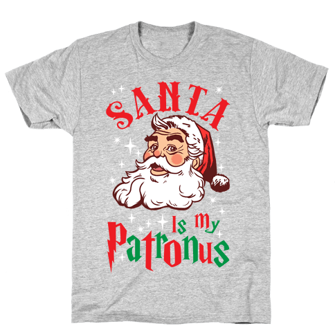 Santa Is My Patronus Mens T-Shirt