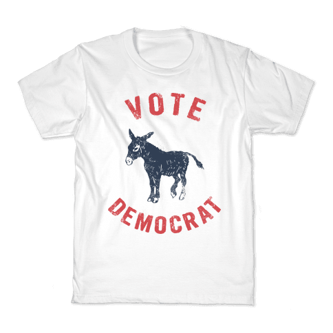 Vote Democrat (Vintage democratic donkey) Kids T-Shirt