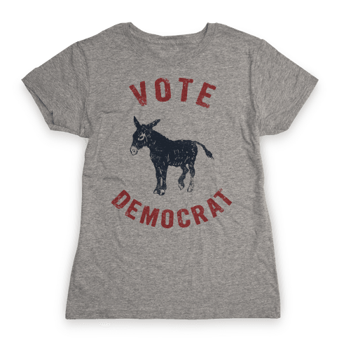 Vote Democrat (Vintage democratic donkey) Womens T-Shirt