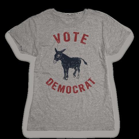 Vote Democrat (Vintage democratic donkey) Womens T-Shirt