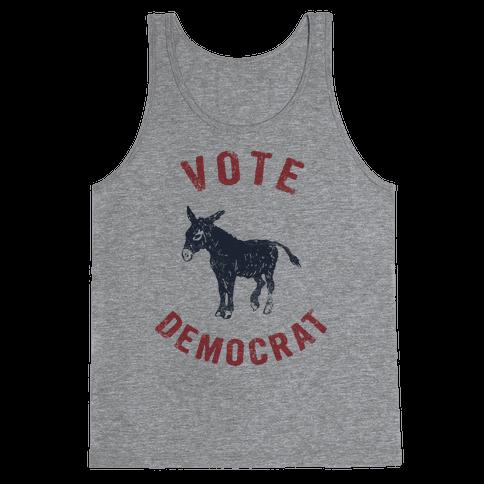 Vote Democrat (Vintage democratic donkey) Tank Top