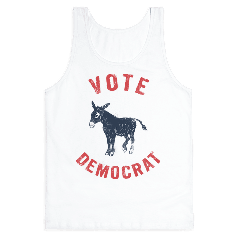 Vote Democrat (Vintage democratic donkey) Tank Top