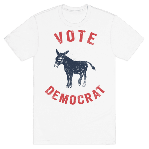 Vote Democrat (Vintage democratic donkey) Mens T-Shirt