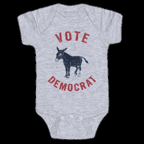 Vote Democrat (Vintage democratic donkey) Baby Onesy