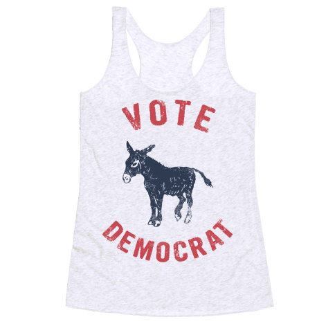 Vote Democrat (Vintage democratic donkey) Racerback Tank Top