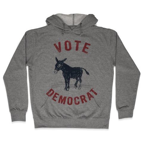 Vote Democrat (Vintage democratic donkey) Hooded Sweatshirt