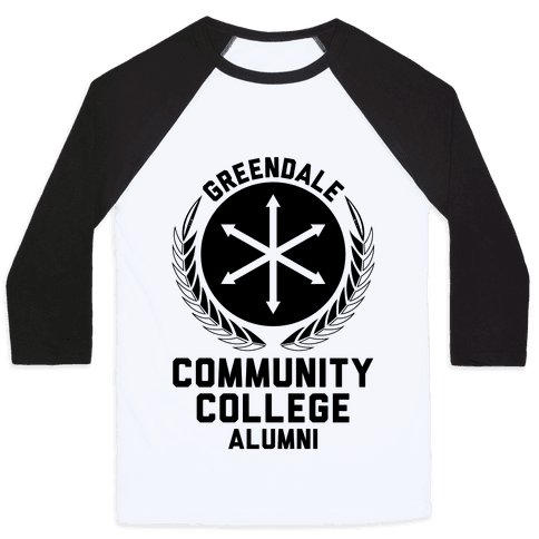 Greendale Community College Alumni Baseball Tee