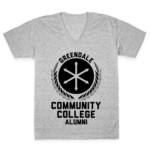 Greendale Community College Alumni V-Neck Tee Shirt
