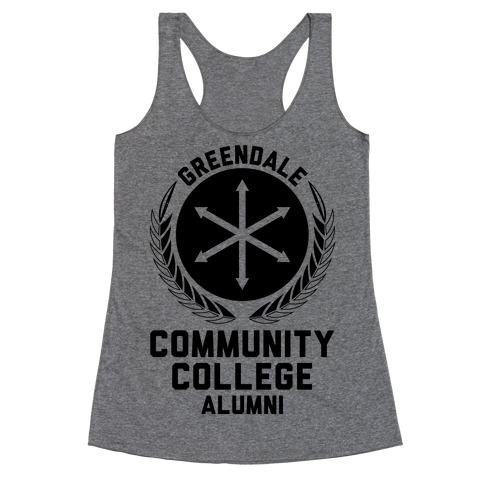 Greendale Community College Alumni Racerback Tank Top