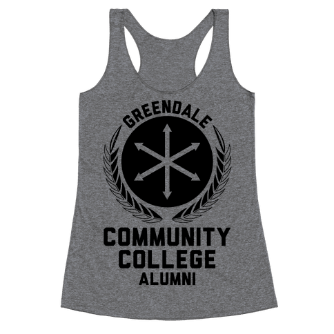 Greendale Community College Alumni Racerback Tank Top