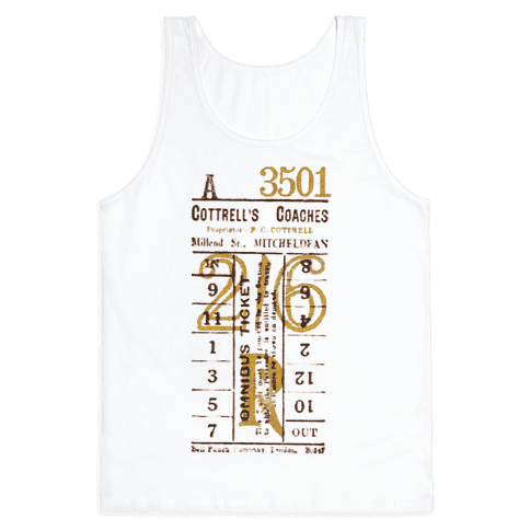 Vintage Punch Ticket Tank Top