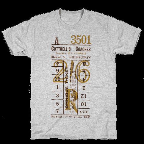 Vintage Punch Ticket Mens T-Shirt