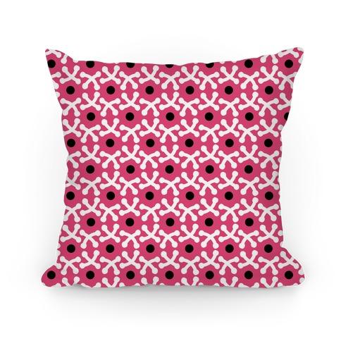 Pink Crafters Stitch Pattern Pillow