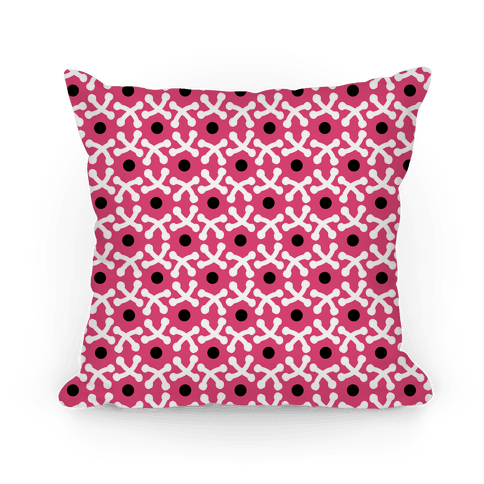 Pink Crafters Stitch Pattern Pillow