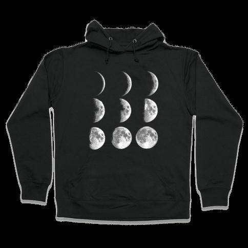 Moon Phases Hooded Sweatshirt