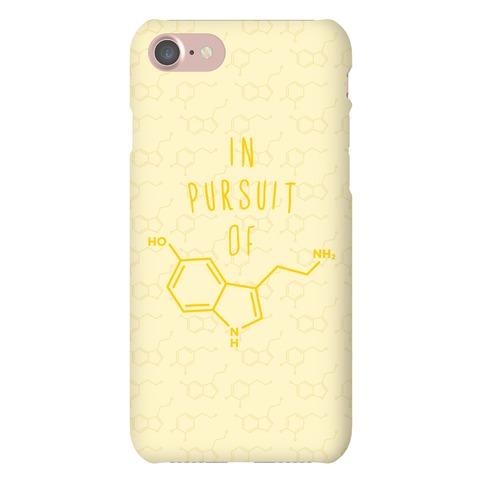 In Pursuit of Happiness (Serotonin Molecule) Phone Case
