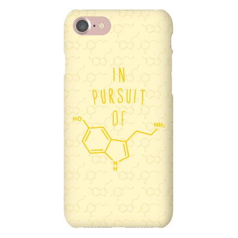 In Pursuit of Happiness (Serotonin Molecule) Phone Case