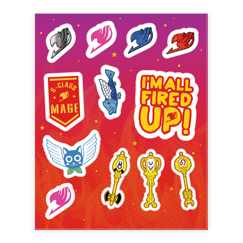 Fairy Tail Sticker and Decal Sheet