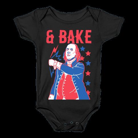 Shake & Bake: Benjamin Franklin Baby Onesy