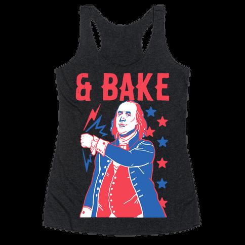 Shake & Bake: Benjamin Franklin Racerback Tank Top