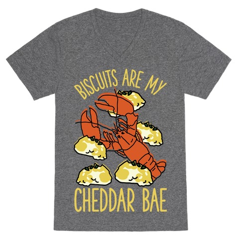Biscuits Are My Cheddar Bae V-Neck Tee Shirt